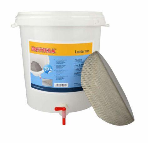 cuve de filtration avec fond filtrant inox